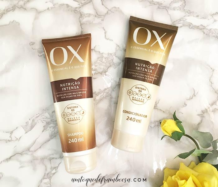Resenha do shampoo e do condicionador da Linha Ox Nutrição Intensa