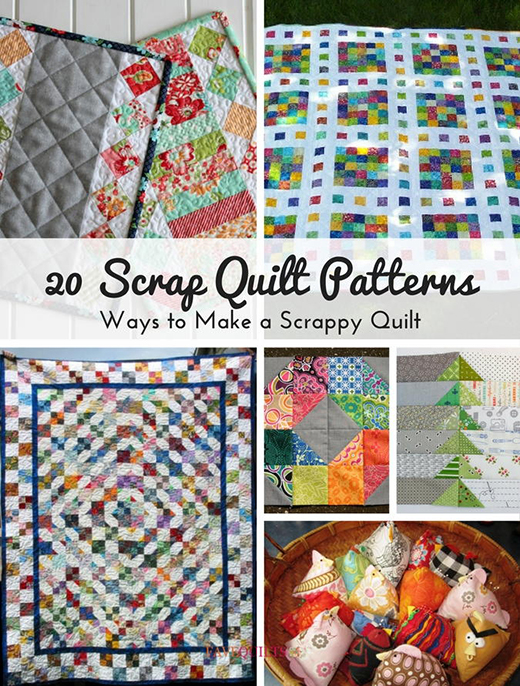 20 Free Scrap Quilt Patterns By FaveQuilts