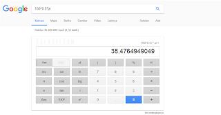 mengguanakan google sebagai kalkulator