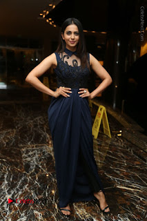 Actress Rakul Preet Singh Stills in Beautiful Blue Long Dress at Dhruva Salute to Audience Event  0125.JPG
