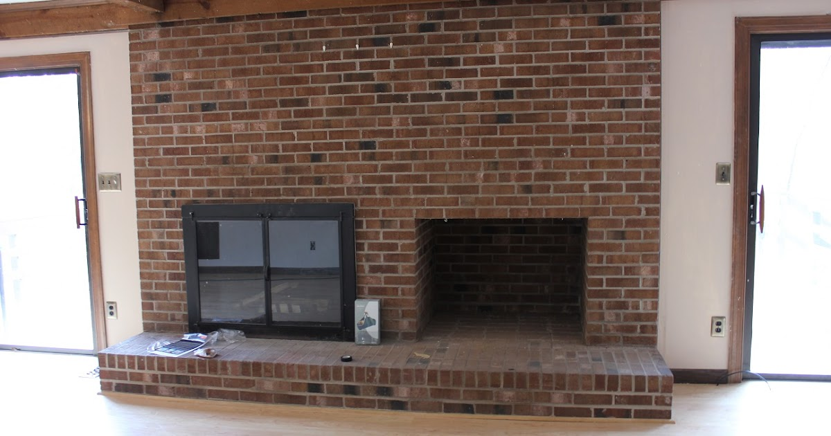 The handcrafted life rewind building a fireplace - Floor to ceiling brick fireplace makeover ...
