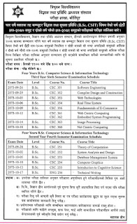 BSc CSIT 4th and 6th semester routine and exam center ~ Bsc CSIT Blog