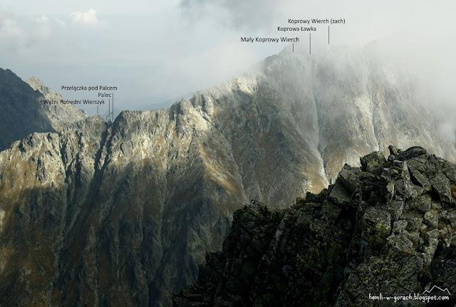 Widok na Mały Koprowy Wierch