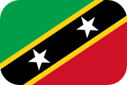 Rounded flag of Saint Kitts and Nevis