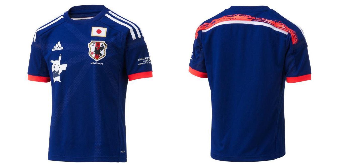6896b37c58 Camisa da seleção do Japão para a Copa 2014 terá o Pikachu estampado -  Nintendo Blast