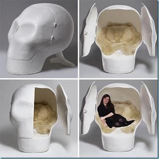 skeleton head bed set