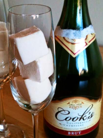 Champagne Marshmallow. A Chewy Toast For Special Moments.
