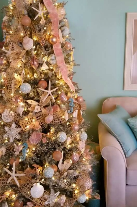 Coastal Gold Christmas Tree