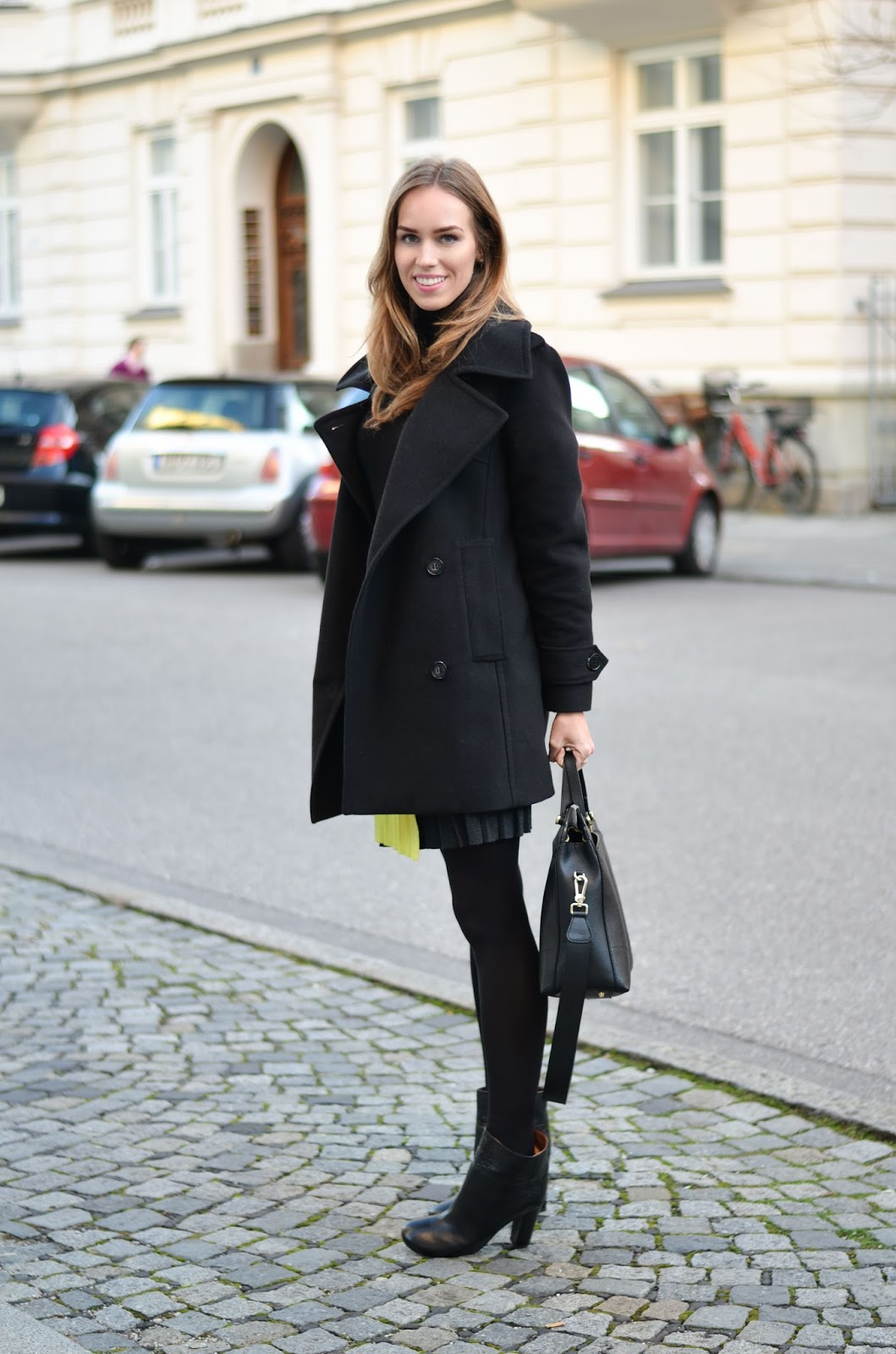 kristjaana mere lindex black peacoat winter fashion