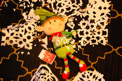elf on the shelf advent bible study paper snowflakes