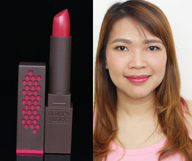 a photo of Burt's Bees 100% Natural Lipstick Magenta Rush