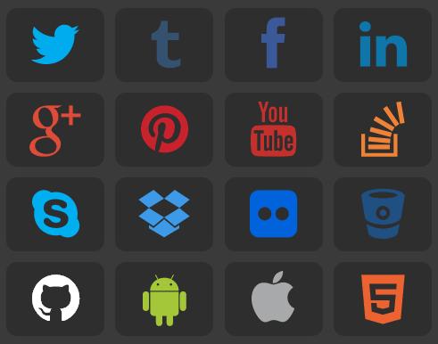 Brand Icons design using css