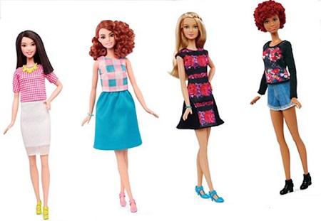 Formatos de corpo das novas  Barbies coleção 2016 - Alta