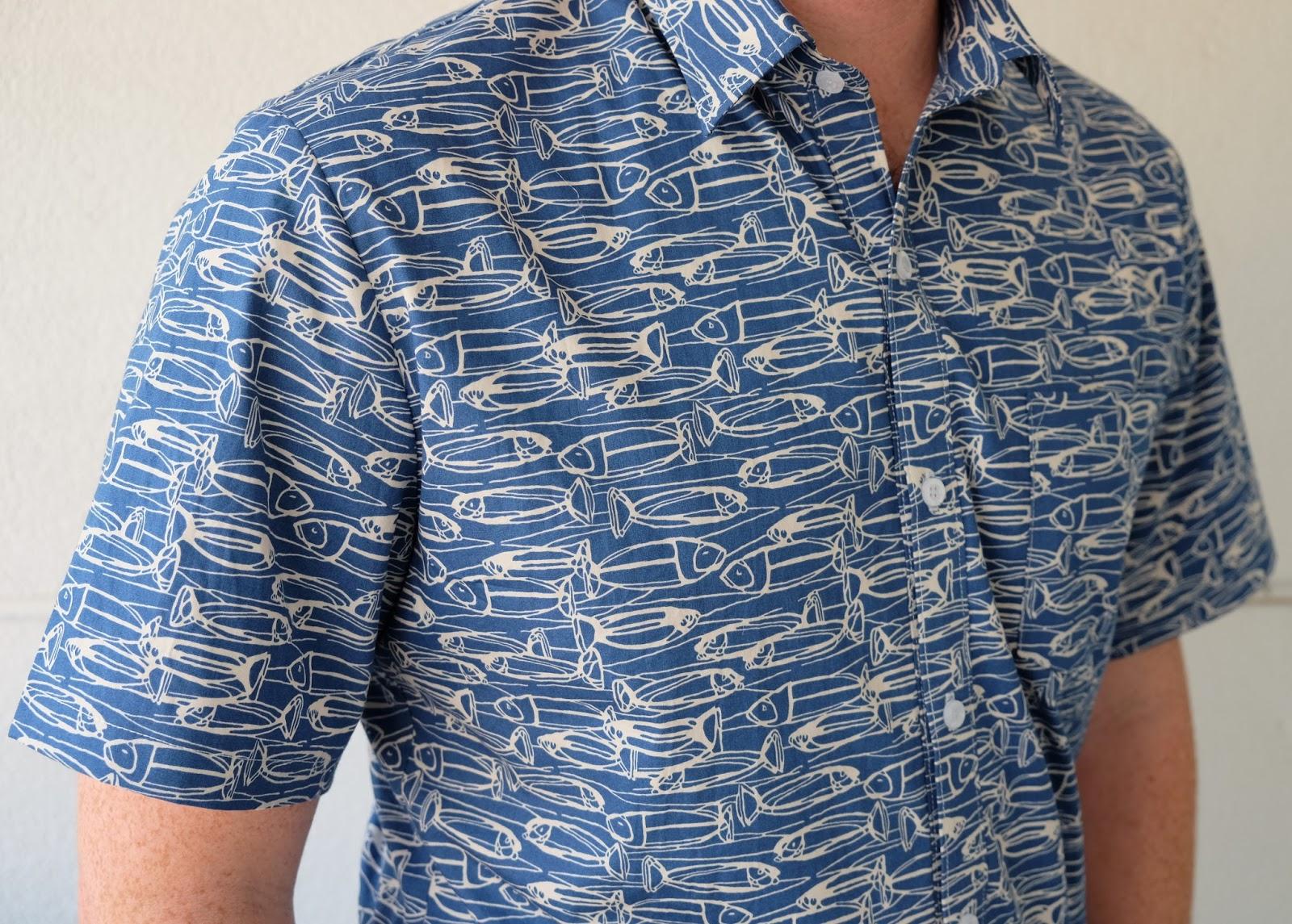Cookin 39 craftin 39 fish shirt mccall 39 s 6044 for Fish print shirt