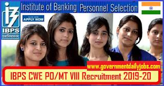 IBPS 4252 PO Recruitment 2018 Apply Online for PO/ MT CRP VIII Job