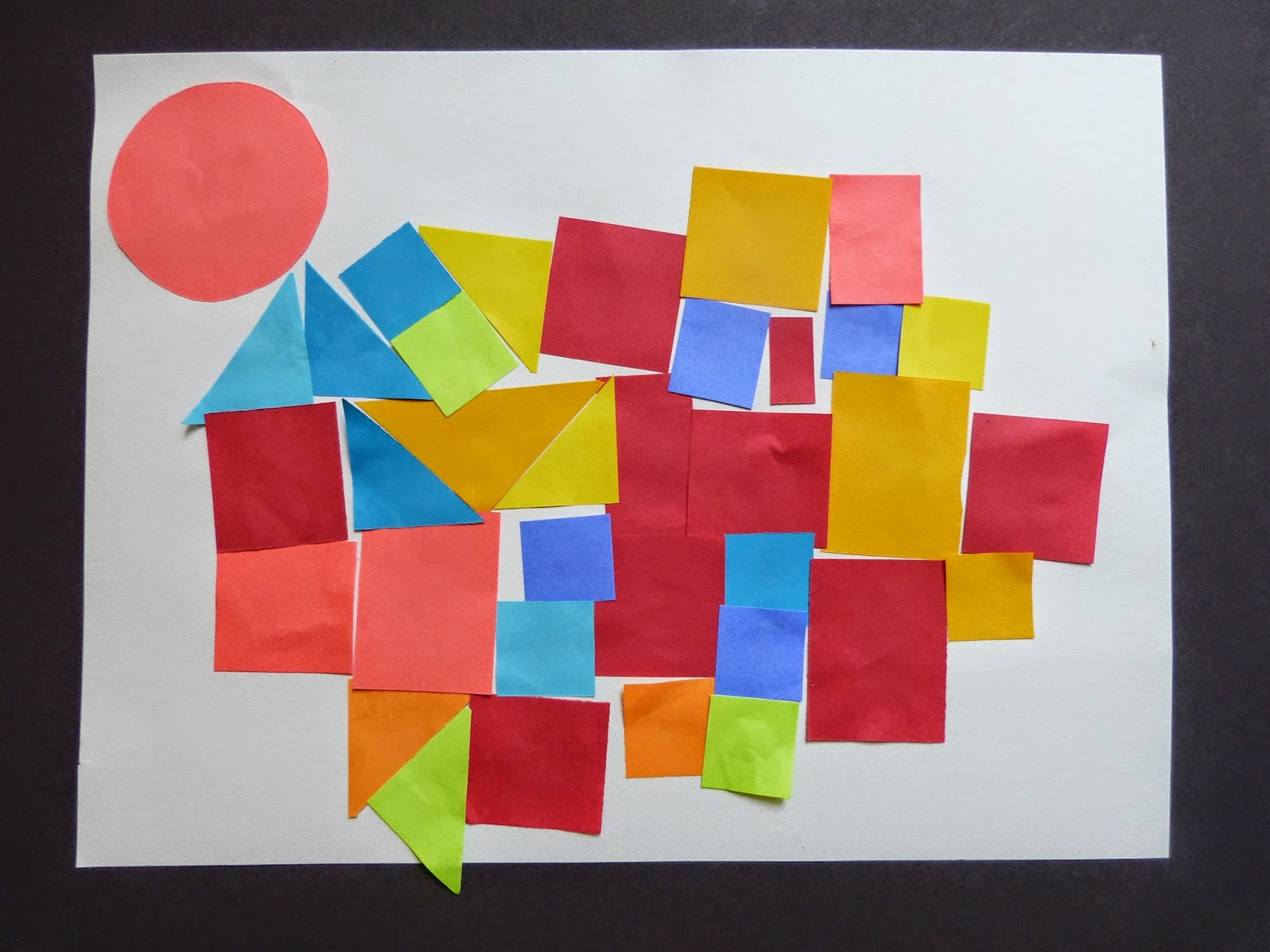Exploring Paul Klee's Castle and Sun in preschool with block play and art.