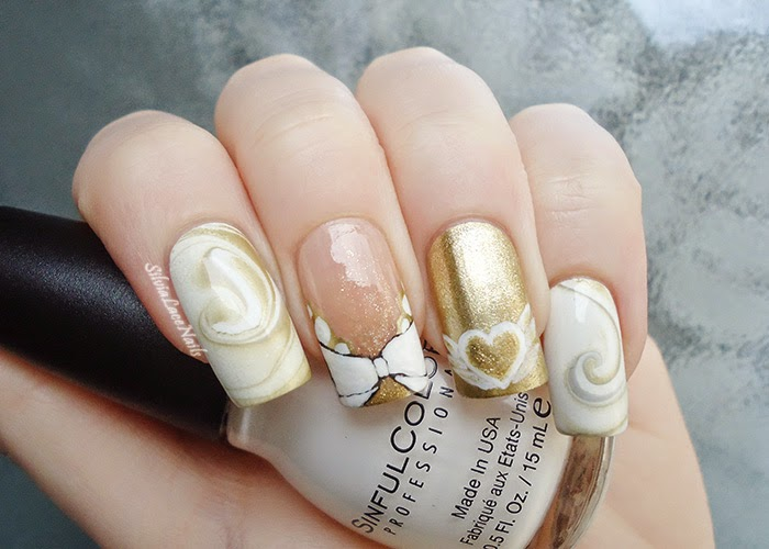 Sailor moon collab manicure: Princess Serenity