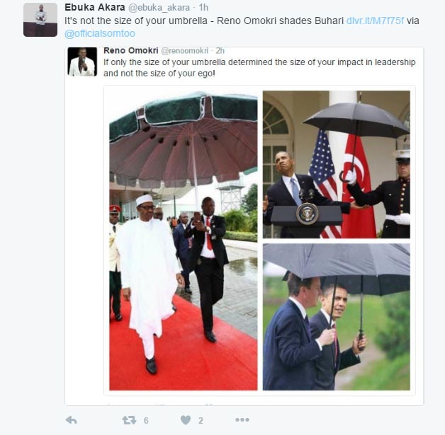 Ghen ghen! Nigerians reply @RenoOmokri over attack on Buhari