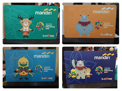 Kartu e-Money Mandiri Edisi Maskot Asian Games 2018