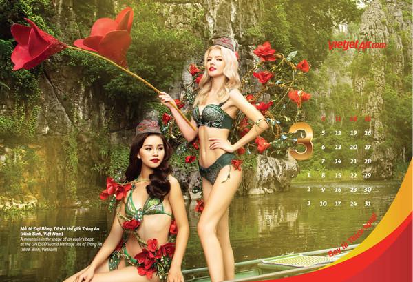 2019年越捷航空全新「比基尼」月曆