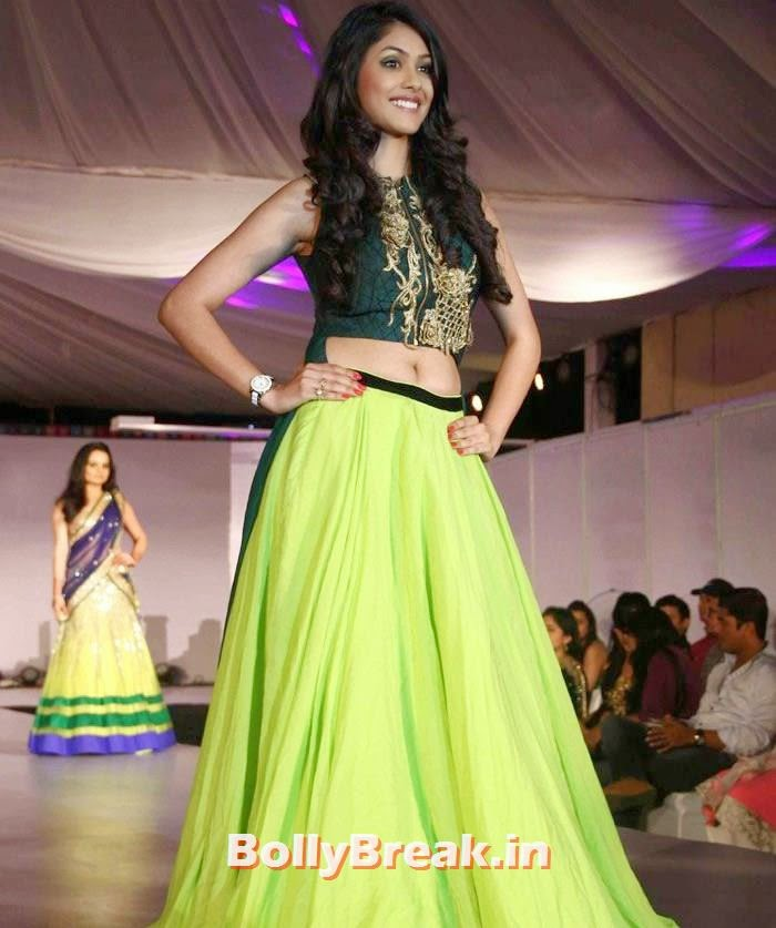 Mrunal Thakur, Ex Bigg Boss Contestants at Welingkar's Tribute Fashion Show 2014