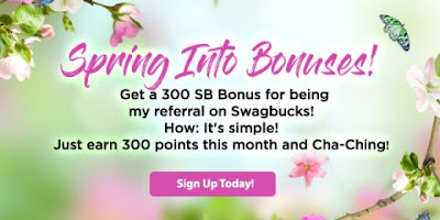 300 bonus SB when you sign up for Swagbucks in April