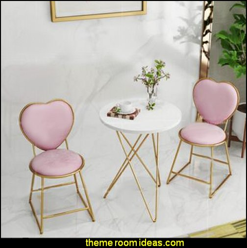 Nordic minimalist gold dresser chair nail stool coffee milk tea leisure chair iron chair back flannel chair  novelty furniture - unique furniture - unusual gifts - novelty lighting - fun decorations -  unique gifts - uncommon furniture - fun gifts - fun furniture - online home furnishing shopping -