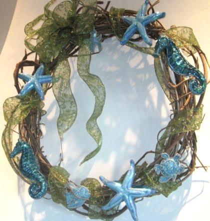 homemade Wisteria Christmas wreath