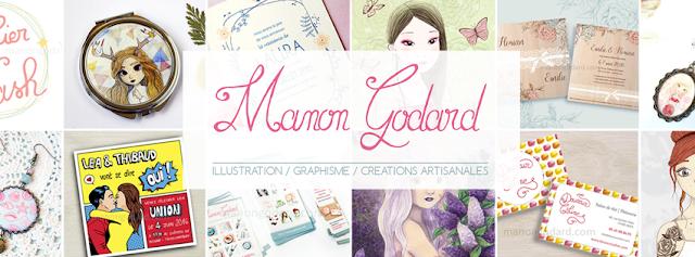 Manon Godard bannière graphiste logo faire-part