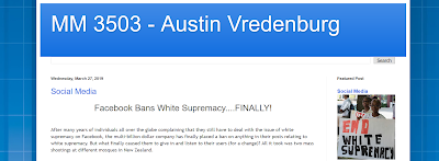 screencap of Austin's blog