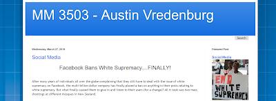 screencap of Austin's blog