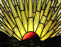 Stained glass sunrise