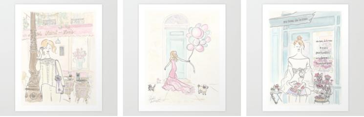 art prints paris, pets, fashion by shell sherree