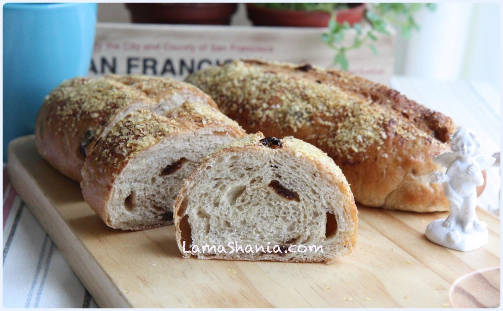 「麵包機」「冷藏發酵」香氣十足 胚芽葡萄乾麵包