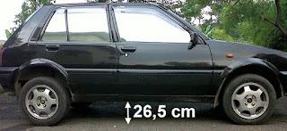 cara menaikan body mobil sedan starlet