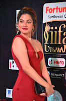 Natasha Nebasha in a Leg Slit Sleeveless Stunning Red Gown at IIFA Utsavam Awards 2017 033.JPG