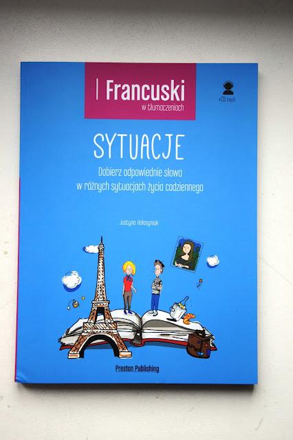 """Recenzje #28 - """"Francuski w tłumaczeniach. Sytuacje"""" - okładka książki pt.""""Francuski w tłumaczeniach. Sytuacje"""" - Francuski przy kawie"""