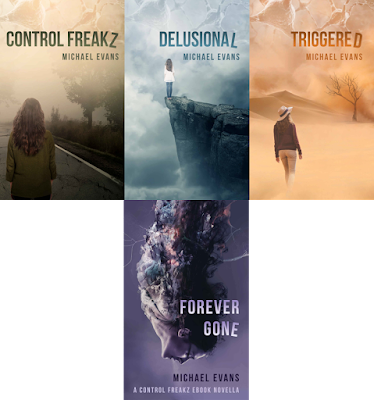 All four books in the 'Control Freakz' series by Michael Evans