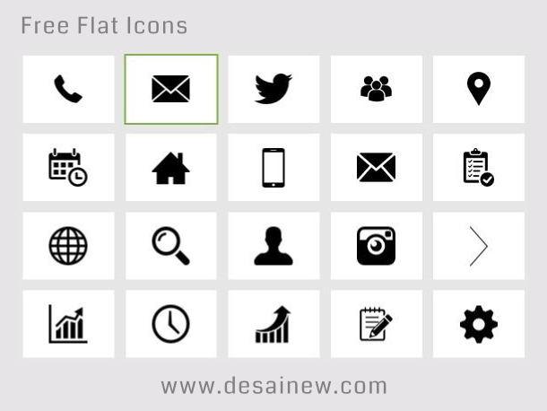 Free Download Flat Icons designs atau situs tempat download flat icon gratis