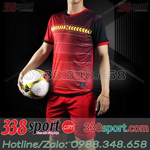 Áo Bóng Đá Không Logo Hot Keply CeRan STA01 Đỏ Đô