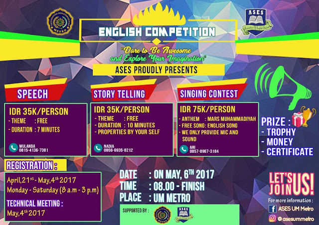 """English Students Association Proudly Presents """"English Competitions"""". Join Us"""