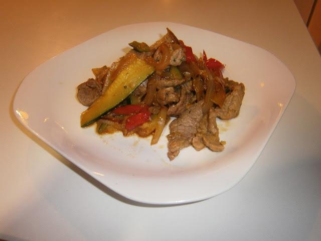 Ternera con Vegetales (Estilo chino)