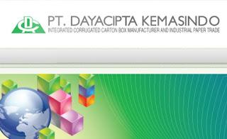 Info Loker Terbaru SMA/SMK 2017 PT. DAYA CIPTA KEMASINDO Karawang