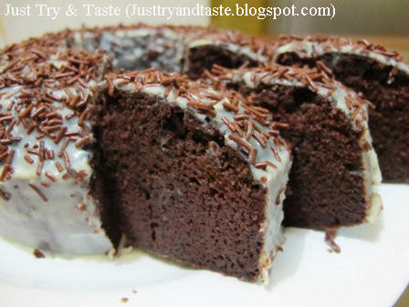Resep Cake Coklat Kukus (Steamed Moist Chocolate Cake) JTT