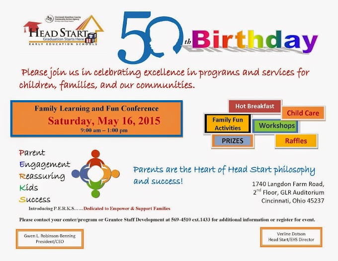 50th Birthday Family Learning & Fun Conference Event