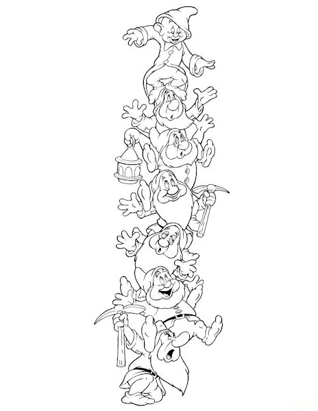 Disney snow white and the seven dwarfs coloring pages for Snow white and the seven dwarfs coloring page