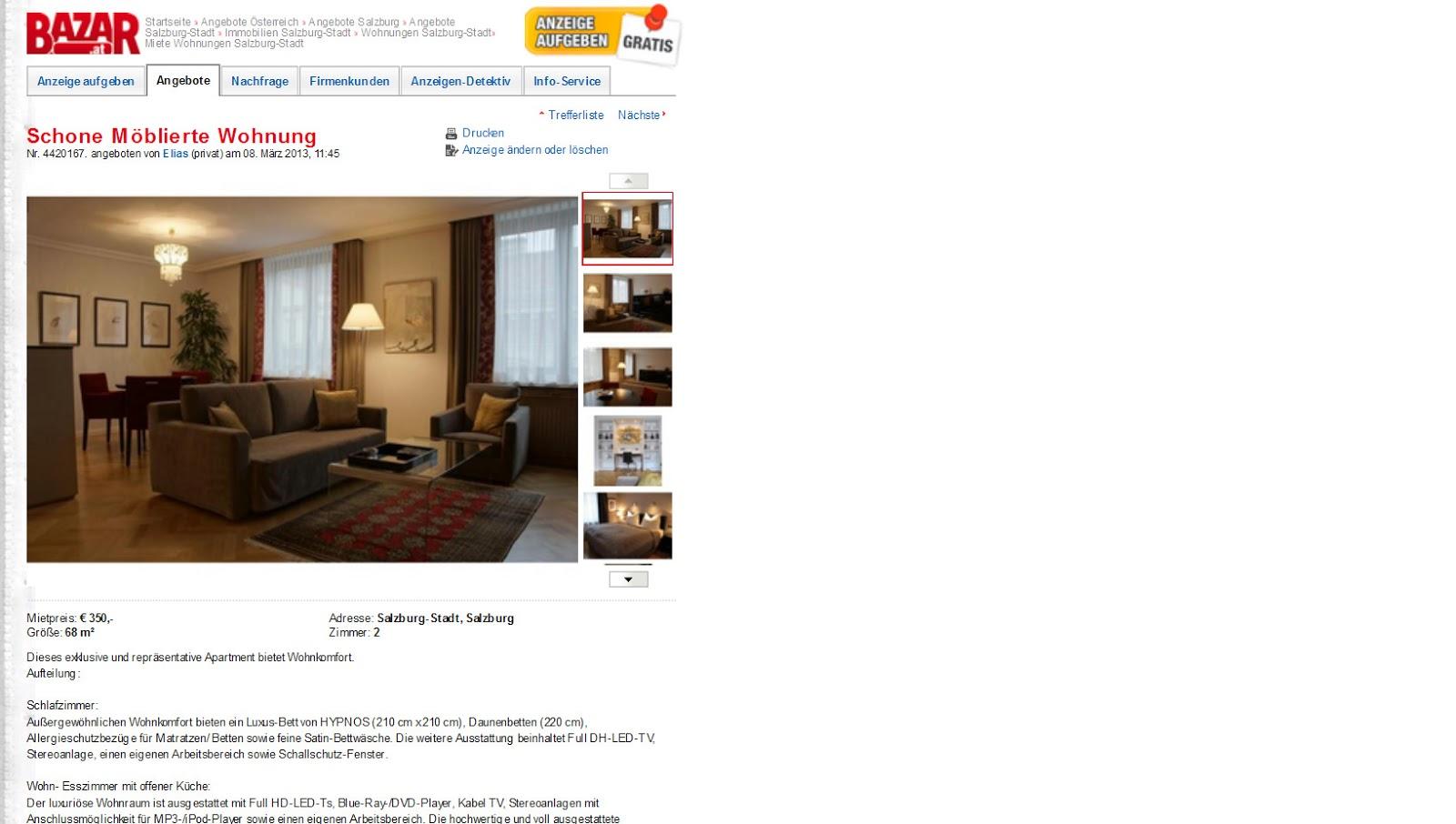 wohnungsbetrugblogspotcom Mblierte Wohnung  Luxus