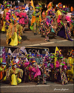 Desfile Inaugural del Carnaval. Uruguay. Murga La Trasnochada