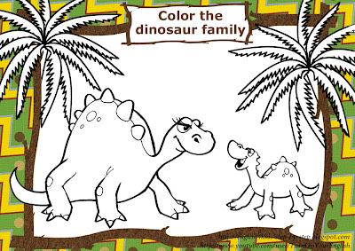 dinosaur solid unit of measurement coloring page for esl