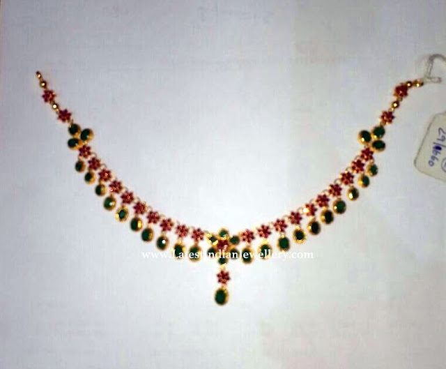 20gms Simple Ruby Necklace